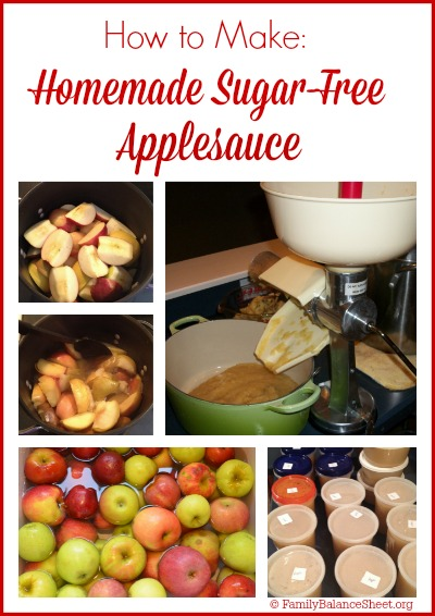 How to Make Homemade Sugar-Free Applesauce
