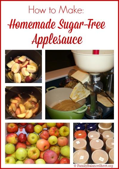 How to Make Homemade Sugar-Free Applesauce