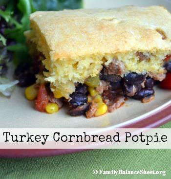 Turkey Cornbread Potpie
