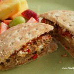 Red Pepper and Feta Turkey Burgers
