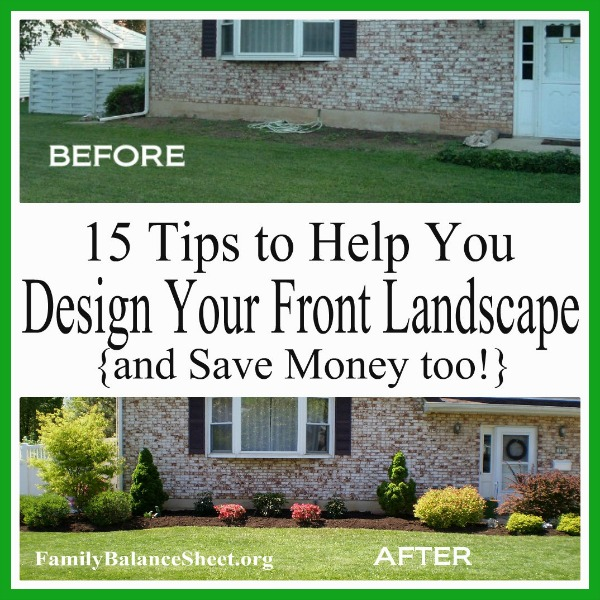 15 tips to help you design your front yard save money too for Landscape my front yard