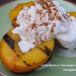 Grilled Peaches with Homemade Whipped Cream