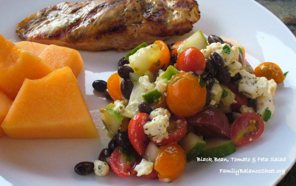 Black Bean Tomato Feta Salad