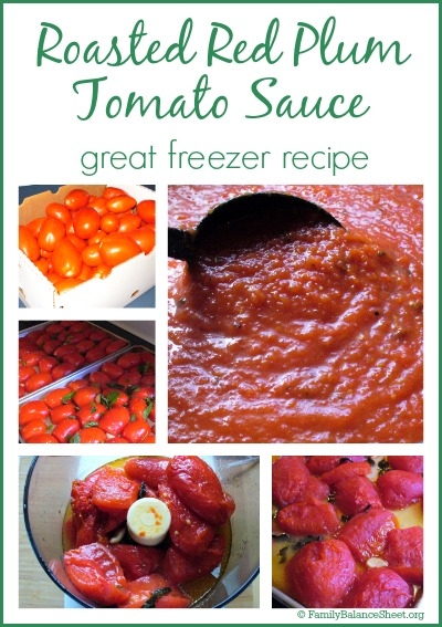 Roasted Red Plum Tomato Sauce