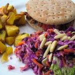 Purple Cabbage and Broccoli Slaw