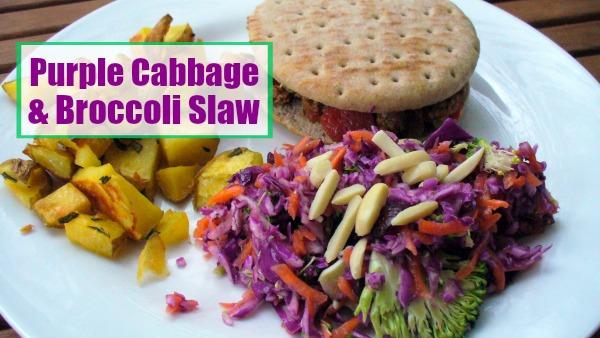 Purple Cabbage & Broccoli Slaw 1