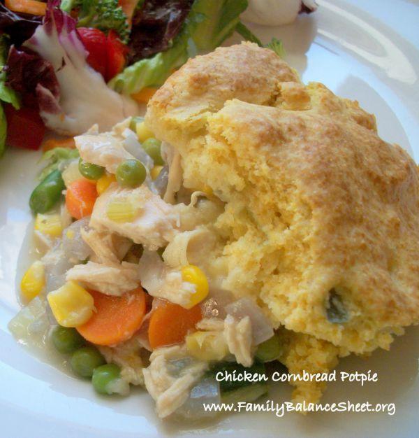 Chicken Cornbread Potpie 1