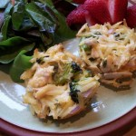 Cheesy Chicken and Broccoli Muffins