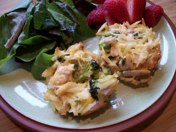 Cheesy Chicken Broccoli Muffins