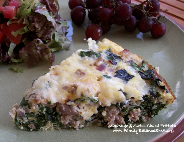 Sausage and Swiss Chard Frittata 1