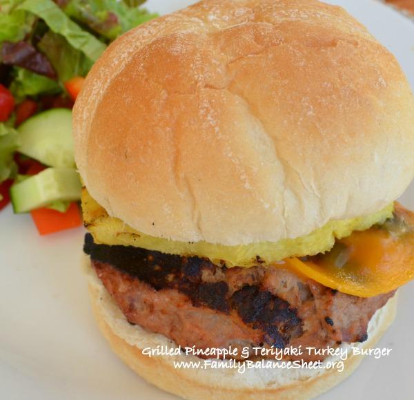 Grilled Pineapple and Teriyaki Turkey Burger
