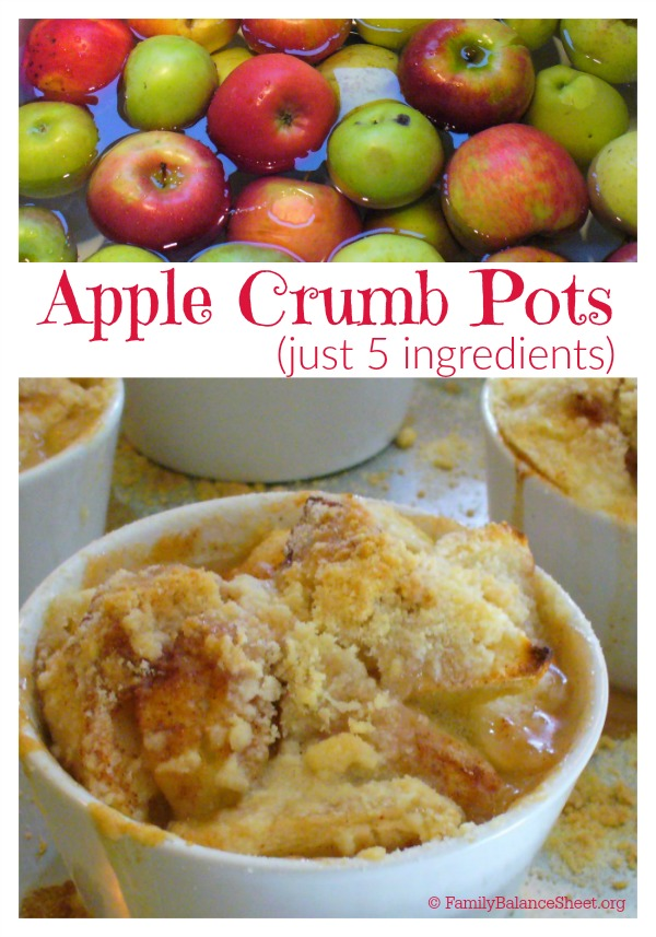 Apple Crumb Pots