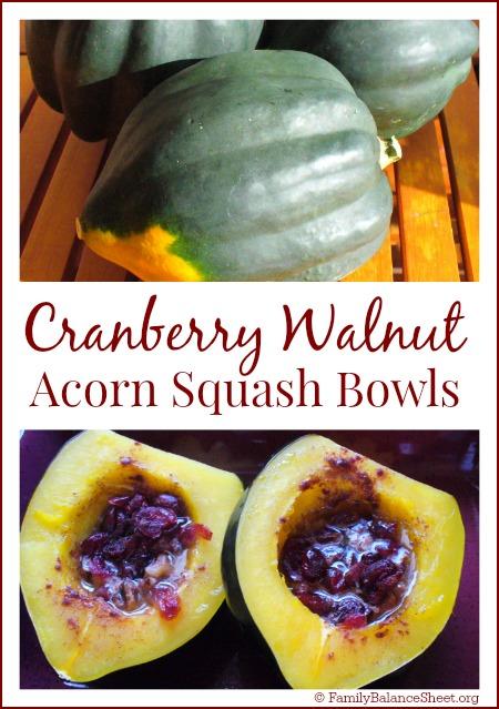 Cranberry Walnut Acorn Squash Bowls