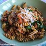 Turkey Sausage, Arugula, and Sun-Dried Tomato Pasta