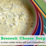Broccoli Cheese Soup ~ Slow Cooker Recipe