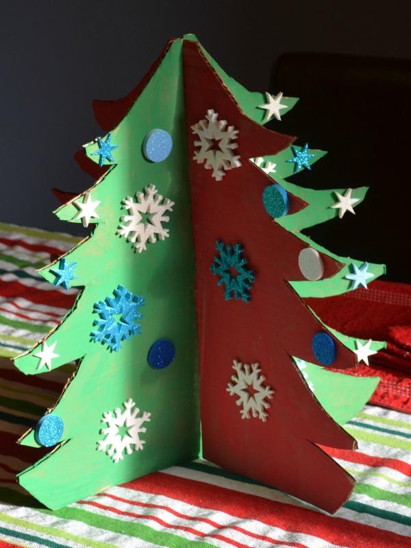 Cardboard Christmas Tree Craft