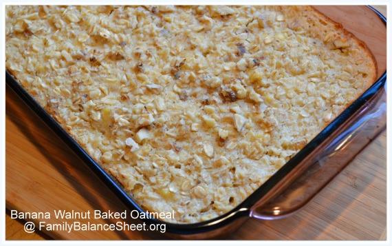 Banana Walnut Baked Oatmeal