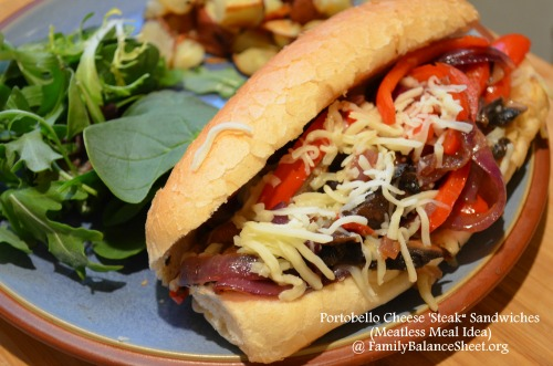 Portobello Cheese Steak Sandwich