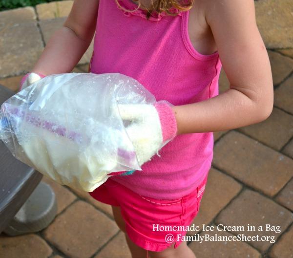 homemade ice cream in a bag 3