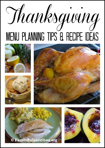 Thanksgiving Menu Planning Tips & Recipe Ideas