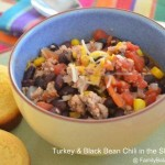 Turkey & Black Bean Chili | Slow Cooker Recipe
