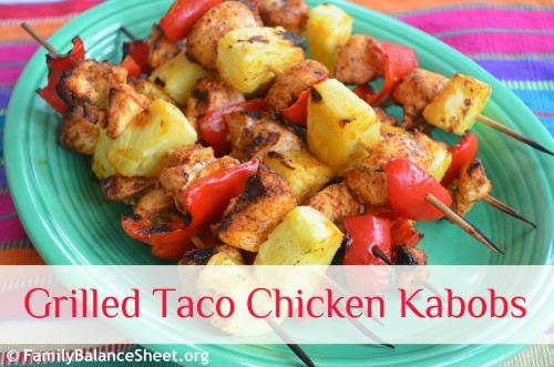 Grilled Taco Chicken Kabobs 1