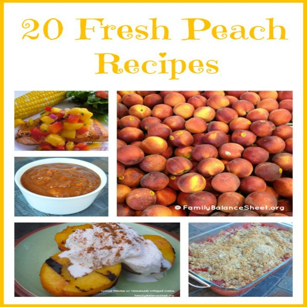 20 fresh peach recipes sq