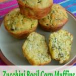 Zucchini Basil Corn Muffins