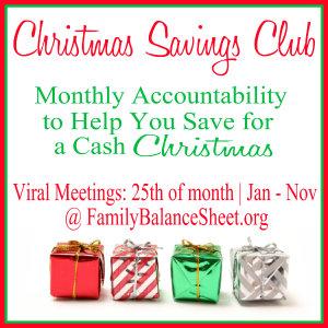 Christmas Savings Club button