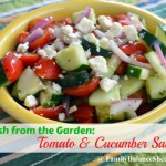 Tomato & Cucumber Salad {Fresh from the Garden}