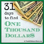 Increase Your Income | 31 Days to Find $1000