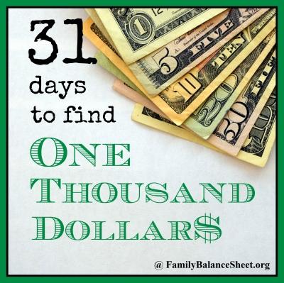 31 Days to Find $1000   400X400