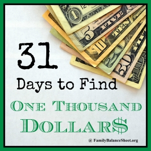 31 Days to Find $1000
