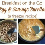 Egg & Sausage Burritos (Freezer Recipe) | Breakfast on the Go