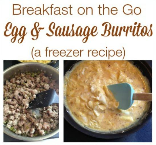 egg  u0026 sausage burritos  make ahead freezer recipe
