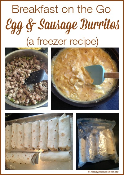 Egg & Sausage Burritos Freezer Recipe