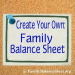 How to Create Your Own Family Balance Sheet