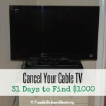 Cancel Your Cable TV | 31 Days to Find $1000