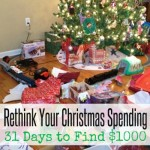Rethink Your Christmas Spending | 31 Days to Find $1000 | Christmas Savings Club
