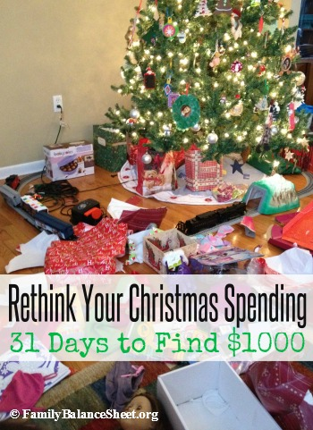 Rethink your Christmas Spending