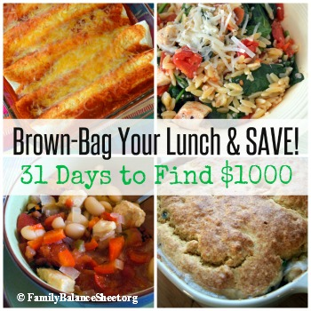 brown bag your lunch & save