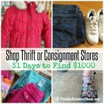 Shop Thrift or Consignment Stores | 31 Days to Find $1000