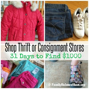 shop thrift or consignment stores