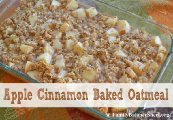 Apple Cinnamon Baked Oatmeal Family Balance Sheet