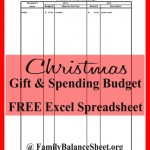 FREE Christmas Budget Excel Spreadsheet