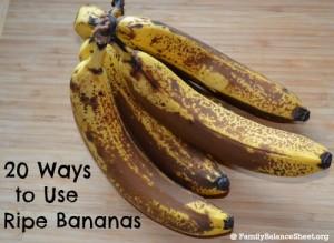 20 ways to use ripe bananas