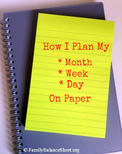 How I plan my month week day on paper