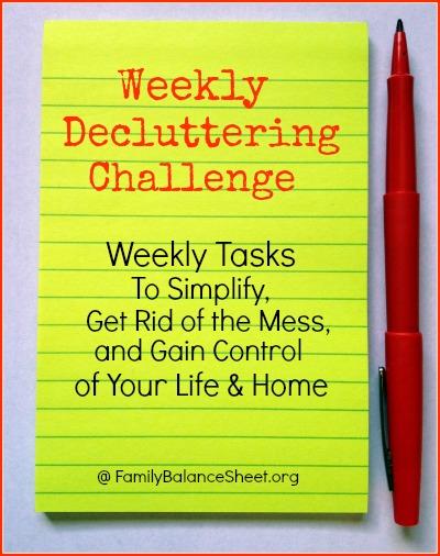 Weekly Decluttering Challenge