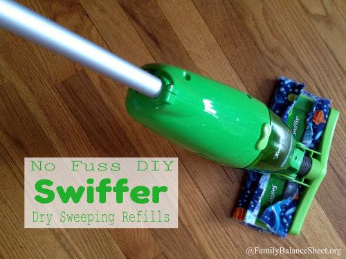 DIY Swiffer Dry Sweeping Refills 2