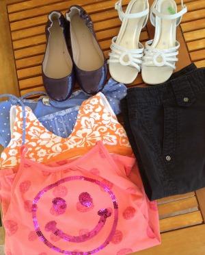 thrifting spring & summer clothing